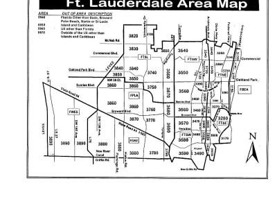 Fort Lauderdale map