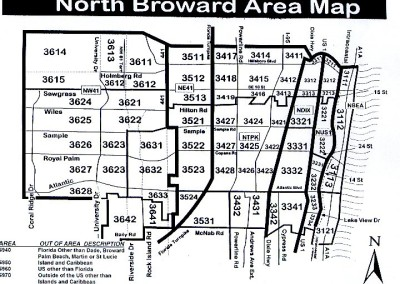 North Broward Area Map