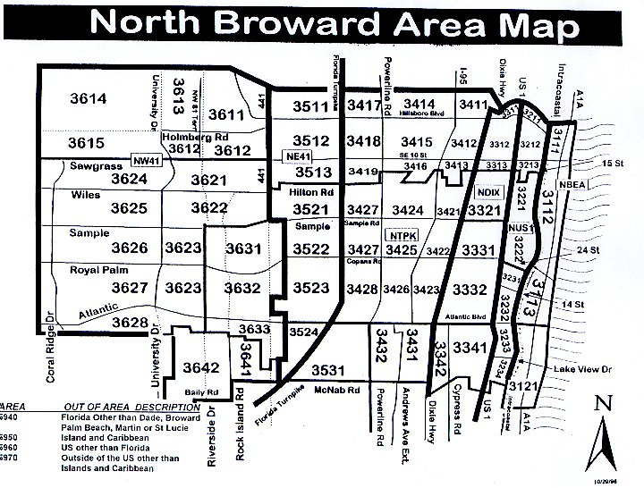 Broward County Map on